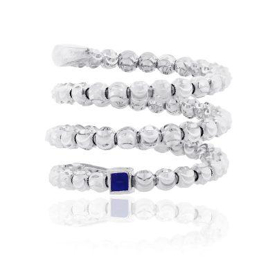 Officina Bernardi Platinum & Sterling Silver Multi Row Ring
