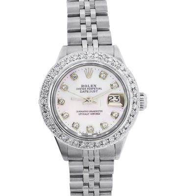 Rolex 6917 Datejust Diamond Bezel Mother of Pearl Ladies Watch