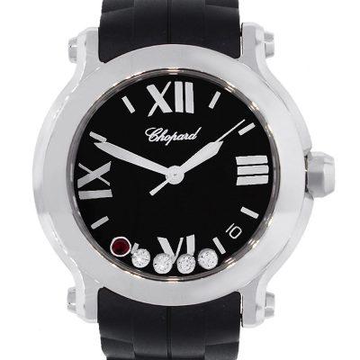 Chopard 8475 Happy Sport Floating Diamonds & Ruby Ladies Watch