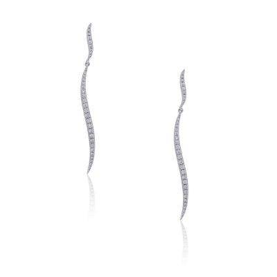 KC Designs 14k White Gold 0.42ctw Diamond Earrings