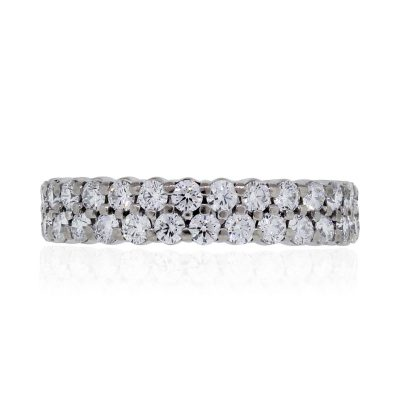 Hearts On Fire 18k White Gold 1.64ctw Diamond Double Row Eternity Band