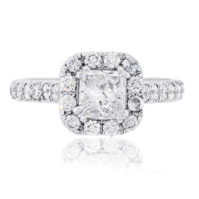 Neil Lane 14k White Gold 1.38ctw Princess Cut Diamond Engagement Ring