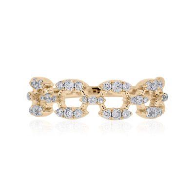 KC Designs 14k Yellow Gold 0.37ctw Diamond Ring
