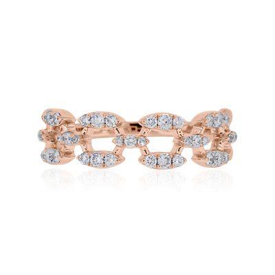 KC Designs 14k Rose Gold 0.37ctw Diamond Ring