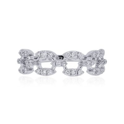 KC Designs 14k White Gold 0.37ctw Diamond Ring