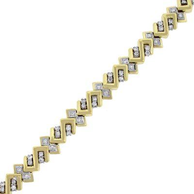 18k Jose Hess 1.80ctw Diamond Mens Bracelet