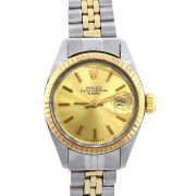 Rolex 6917 Two Tone Date Champagne Dial 26mm Ladies Watch