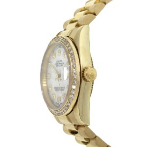 Rolex 68278 18k Yellow Gold Mother of Pearl Ladies Watch