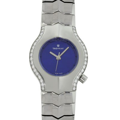 Tag Heuer WP1318 Alter Ego Diamond Bezel Blue Dial Ladies Watch