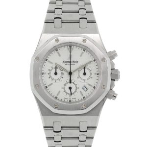 Audemars Piguet Royal Oak White Chronograph Dial Stainless Steel Watch