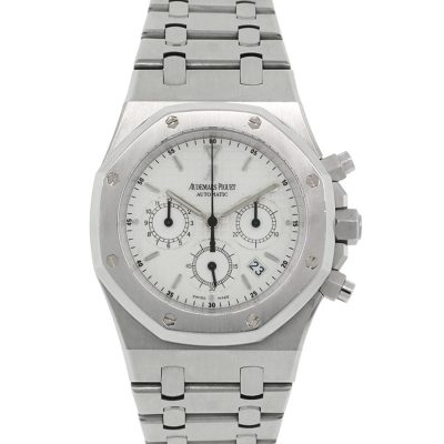 Audemars Piguet Royal Oak White Chronograph Dial Stainless Steel Watch