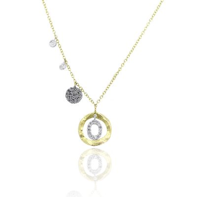 Meira T Two Tone 0.15 Round Brilliant Diamond Station Necklace