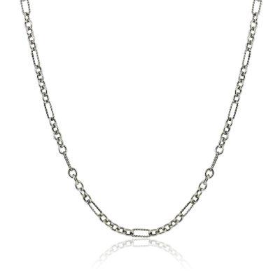 "David Yurman Two Tone 18"" Chain Link Necklace"