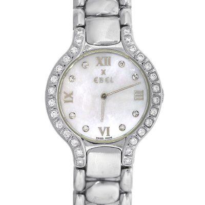 Ebel Beluga Stainless Steel Mother of pearl Diamond Dial Watch