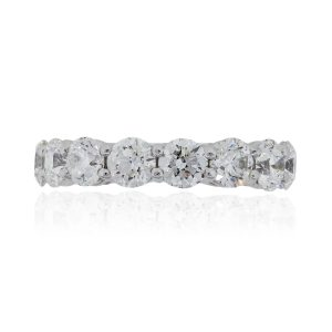 18k White Gold 5.87ctw Round Brilliant Eternity Band