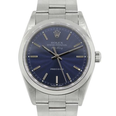 Rolex 14000 Air King Blue Dial Stainless Steel Watch