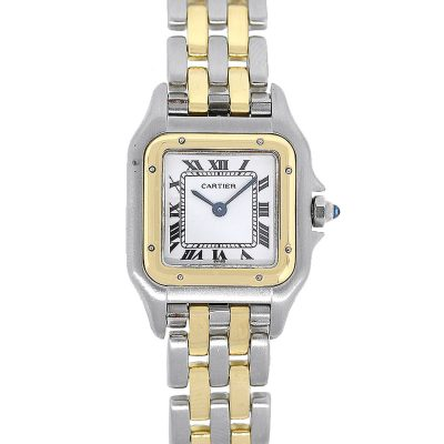 Cartier Panthere 6692 Two Tone White Roman Dial Ladies Watch
