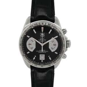 Tag Heuer cav511a Grand Carrera Stainless Steel on Leather Watch