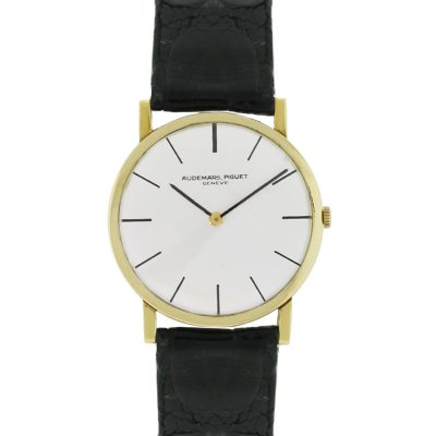 Audemars Piguet 18k Yellow Gold on Leather Strap Vintage Watch