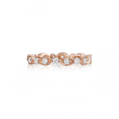 Henri Daussi R37-2HA6 0.30ct Diamond Rose Gold Wedding Band