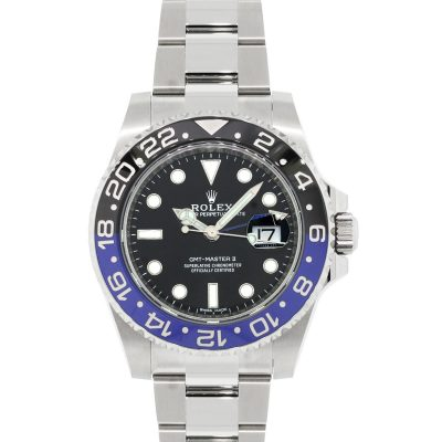 "Rolex 116710 Master GMT II ""Batman"" Stainless Steel Watch"