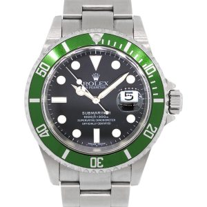 Rolex 16610 Submariner Kermit Black Dial Green Bezel Stainless Steel Watch
