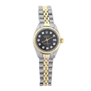 Rolex 6916 Datejust Two Tone Black Dial Ladies Watch