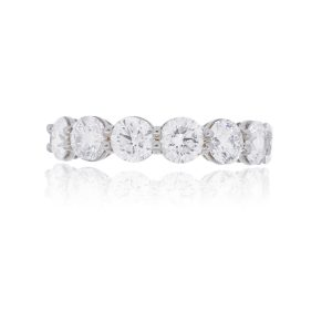 14k White Gold 2.19ctw Round Brilliant Diamond Band