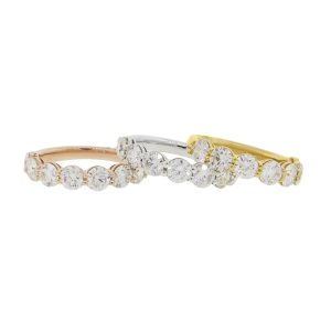 tri color diamond rings, diamond rings, yellow gold diamond rings