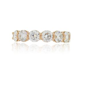 14k Rose Gold 2.19ctw Round Brilliant Diamond Band