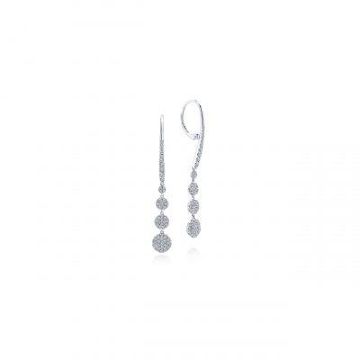 Gabriel & Co. EG12961W45JJ 14k White Gold 0.81ctw Diamond Drop Earrings