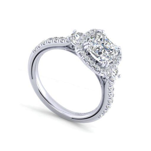 diamond ring cushion cut diamond