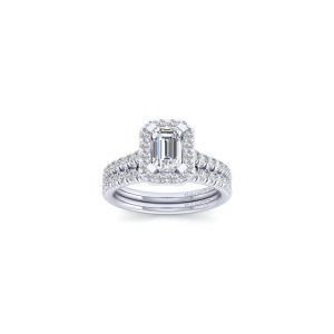 Gabriel & Co. ER14101W44JJ 14k White Gold 0.49ctw Diamond Halo Engagement Ring