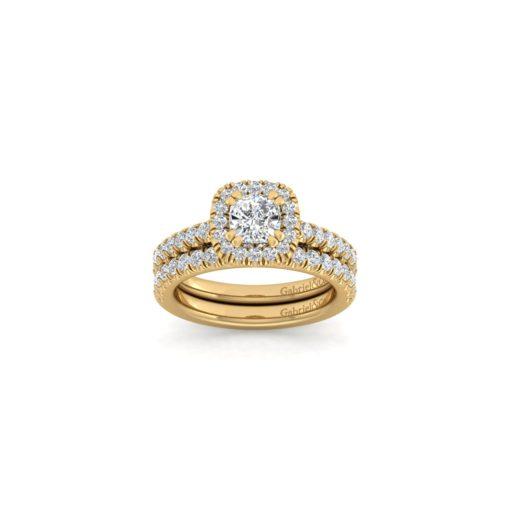 Gabriel & Co. ER7261C4Y44JJ 14k Yellow Gold 0.58ctw Diamond Halo Engagement Ring
