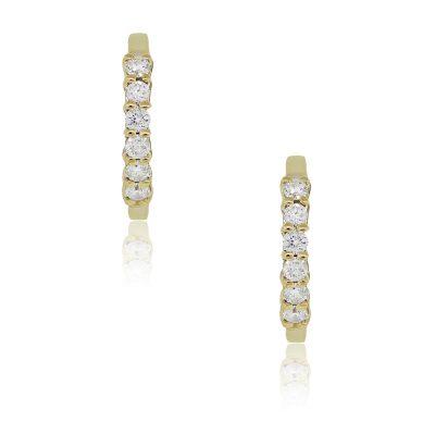 14k Yellow Gold 0.36ctw Diamond Small Huggie Earrings