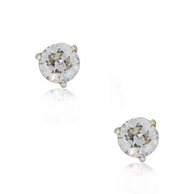 14k White Gold 0.64ctw Round Brilliant Diamond Stud Earrings