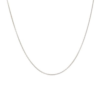 Roberto Coin 18k White Gold Thin Chain Necklace