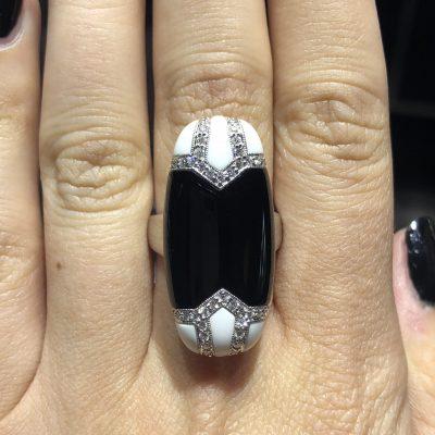 18k White Gold 0.37ctw Round Brilliant Diamond Cocktail Ring