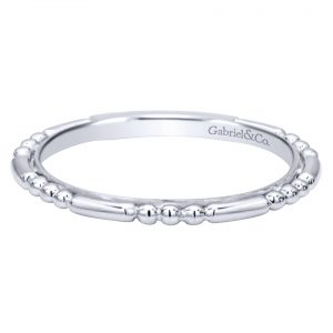 Gabriel & Co. LR4909CW4JJJ 14k White Gold Stackable Band