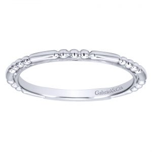 plain white gold band