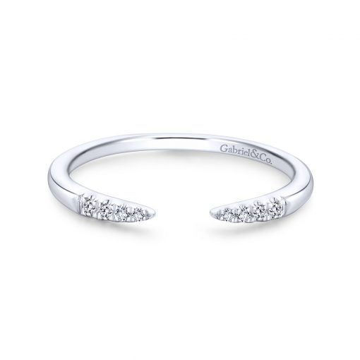 Gabriel & Co. LR51177W45JJ 14k White Gold 0.05ctw Diamond Stackable Band