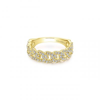 Gabriel & Co. LR51181Y45JJ 14k Yellow Gold 0.52ctw Diamond Stackable Band