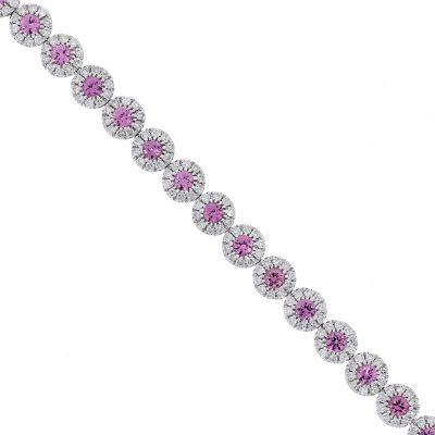 white gold pink sapphire bracelet