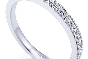 Gabriel & Co. AN7643W44JJ 14k White Gold 0.22ctw Diamond Anniversary Band