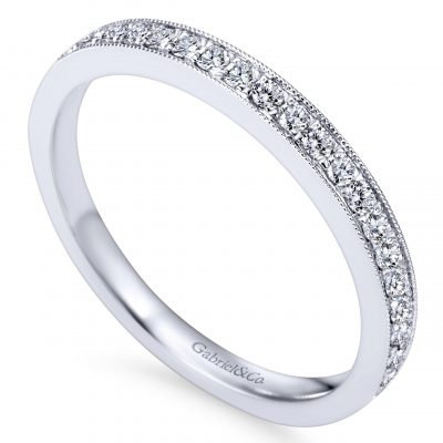 Gabriel & Co. AN7643W44JJ 14k White Gold 0.22ctw Diamond Anniversary Band