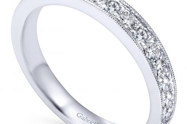 Gabriel & Co. AN7644W44JJ 14k White Gold 0.49ctw Diamond Anniversary Band