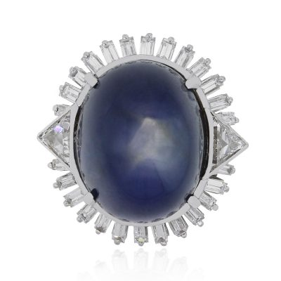 star sapphire diamond ring