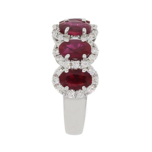 white gold diamond ruby ring