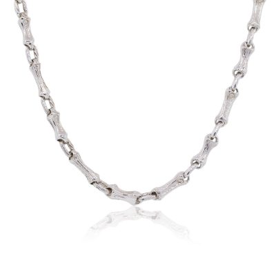Tiffany & Co. Sterling Silver Bamboo Link Vintage Necklace