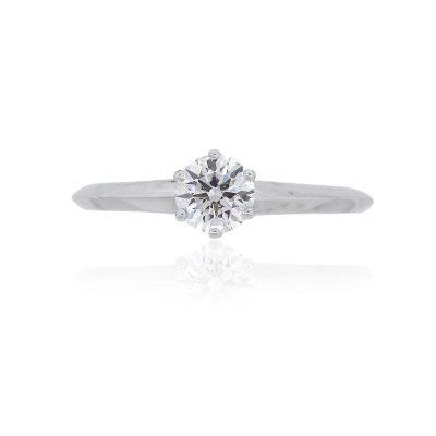 Tiffany & Co. Platinum 0.45ctw Round Brilliant Diamond Engagement Ring